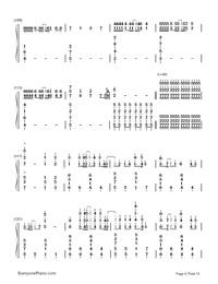 Kusari no Shoujo-Hatsune Miku-Numbered-Musical-Notation-Preview-8