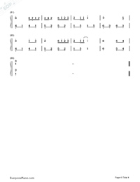 Summer C Major-Simple Version-Numbered-Musical-Notation-Preview-4