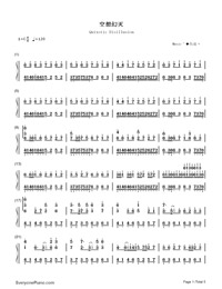 Quixotic Disillusion-Music゛◆ Kゝ-Numbered-Musical-Notation-Preview-1
