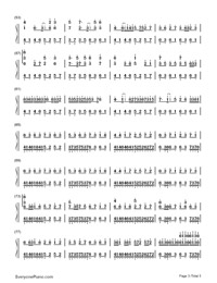 Quixotic Disillusion-Music゛◆ Kゝ-Numbered-Musical-Notation-Preview-3