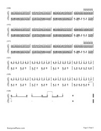 Quixotic Disillusion-Music゛◆ Kゝ-Numbered-Musical-Notation-Preview-5
