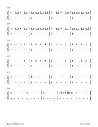 カノン-簡単版両手略譜プレビュー2