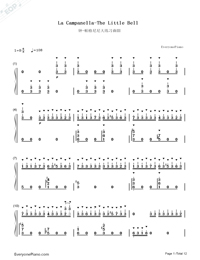 La Campanella-The Little Bell-Franz Liszt-Numbered-Musical-Notation-Preview-1