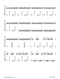 Croatian Canon-Numbered-Musical-Notation-Preview-2