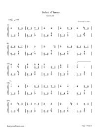 愛の挨拶-Salut d'amour-Edward Elgar両手略譜プレビュー1