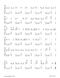 愛の挨拶-Salut d'amour-Edward Elgar両手略譜プレビュー3