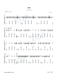 Originally-JJ Lin-Numbered-Musical-Notation-Preview-1