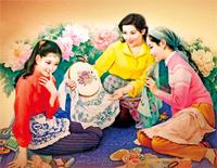 Pouch Embroidering-Peng Liyuan