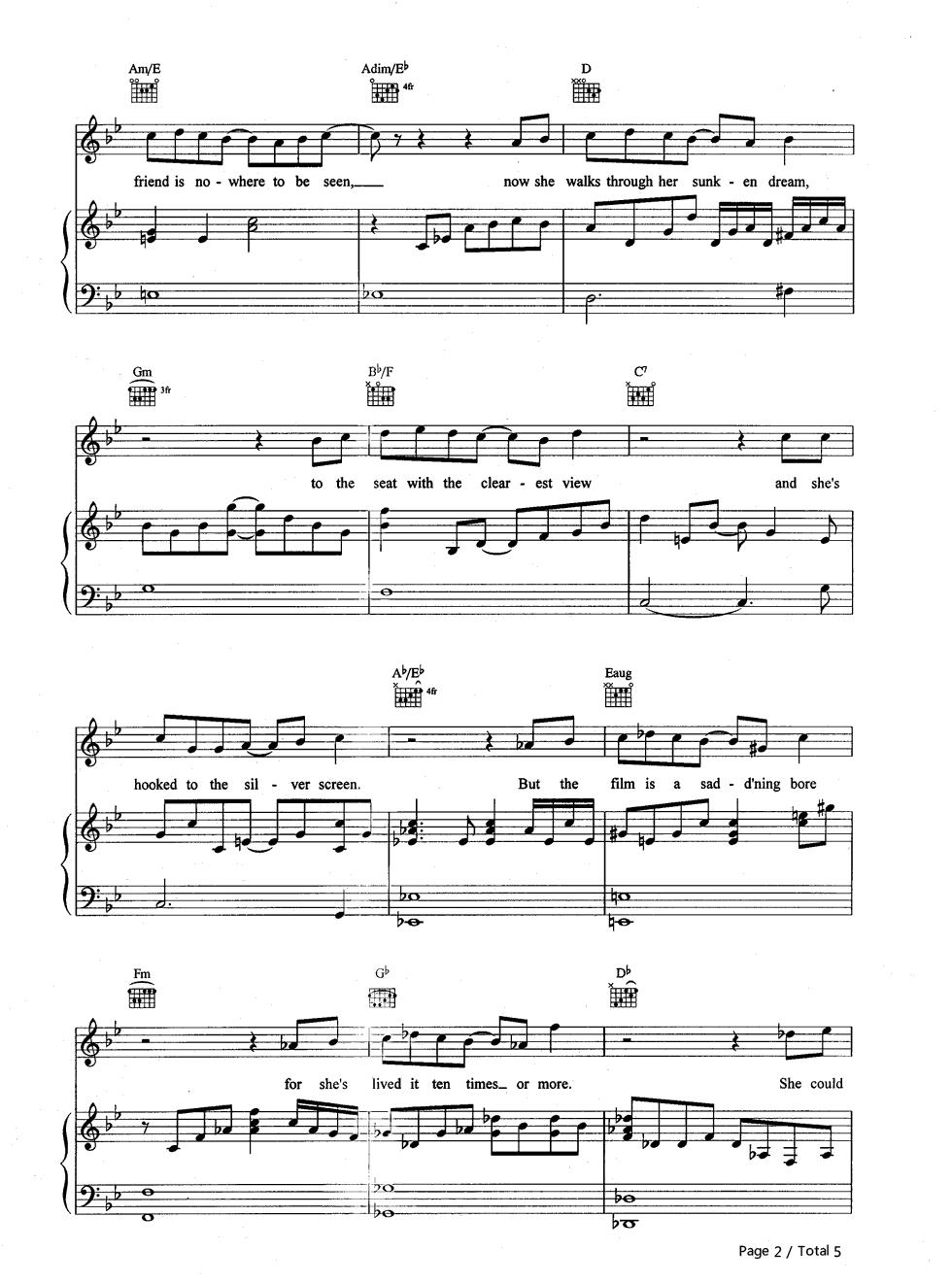 life on mars chords pdf