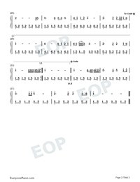 Spring in the North-Kitaguni no Haru-Jiang Dawei-Numbered-Musical-Notation-Preview-2
