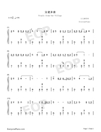People from Our Village-Peng Liyuan-Numbered-Musical-Notation-Preview-1