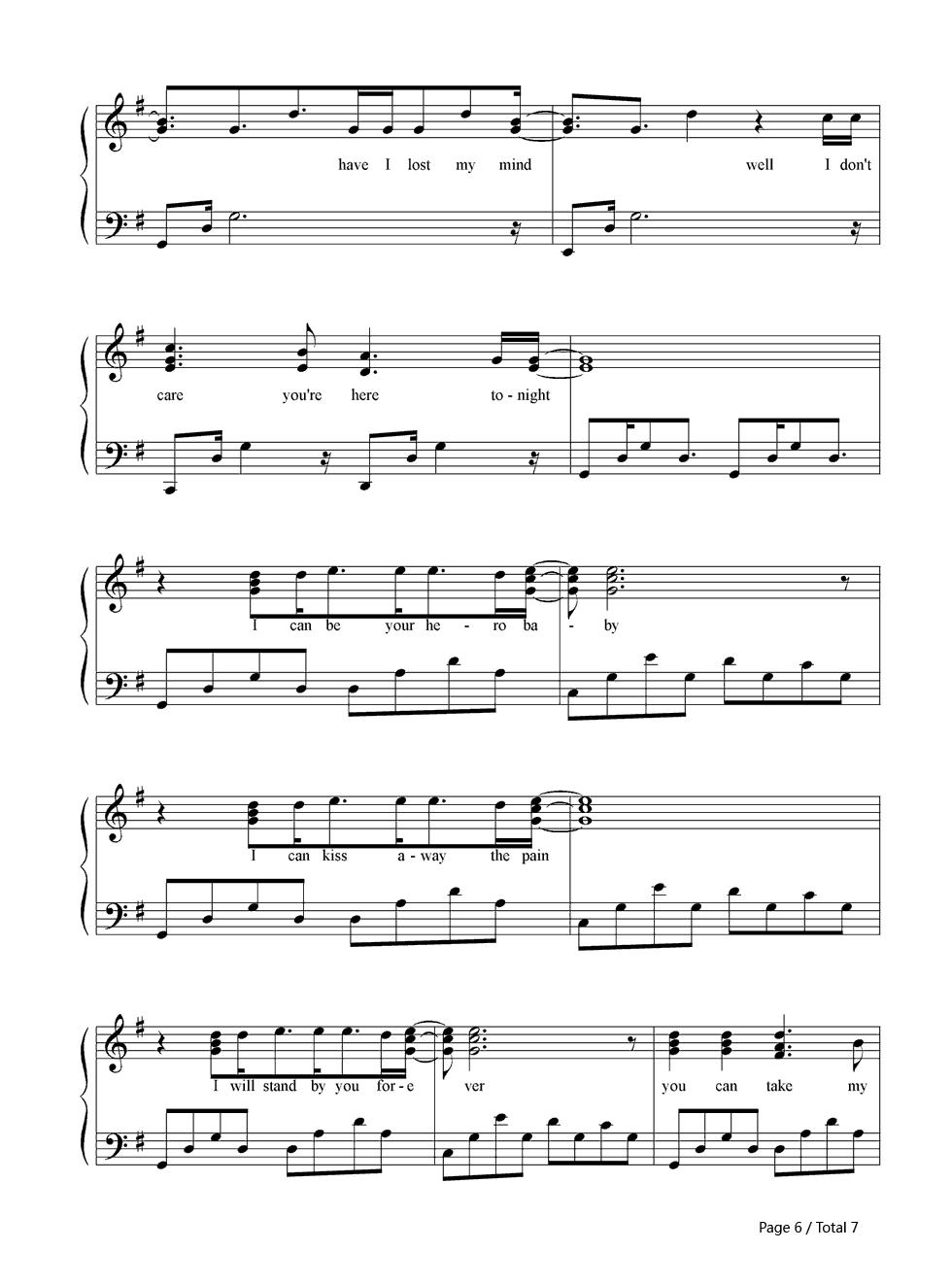 Hero Enrique Guitar Chords