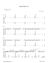 Sugar-Maroon 5両手略譜プレビュー1