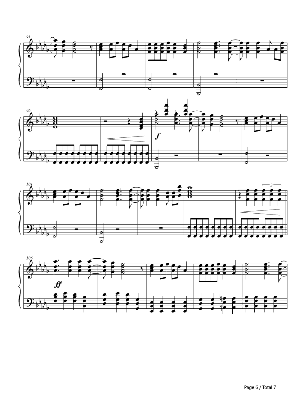 Thnks fr th Mmrs-Thanks for the Memories-Fall Out Boy Stave Preview 6-Free Piano Sheet Music ...