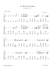 Let Me See You Again-Guo Feng-Numbered-Musical-Notation-Preview-1