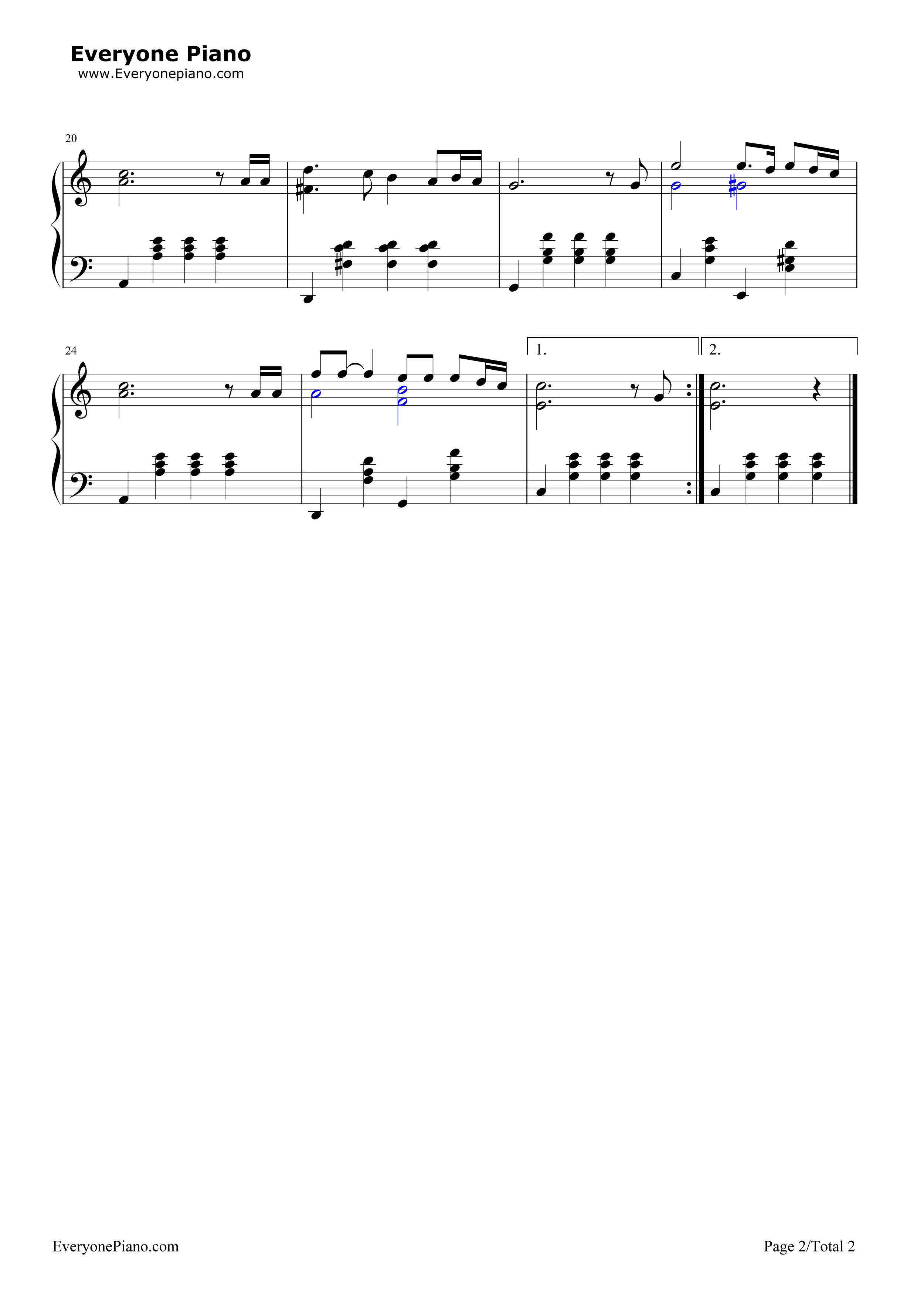 Let Me See You Again-Guo Feng Stave Preview 2-Free Piano Sheet Music u0026 Piano Chords