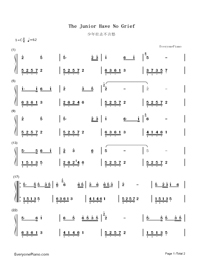 The Junior Have No Grief-Plainclothes Police Theme Numbered Musical Notation Preview 1