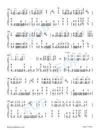 Your Love-Wang Leehom-Numbered-Musical-Notation-Preview-3