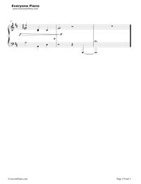 Departures 〜あなたにおくるアイの歌〜五線譜プレビュー3