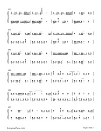 See You Again-Furious 7 Theme-Numbered-Musical-Notation-Preview-3