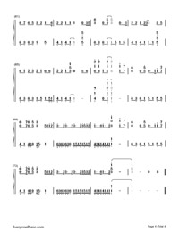See You Again-Furious 7 Theme Numbered Musical Notation Preview 4