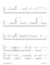 From the beginning until now-winter sonata theme free piano sheet.