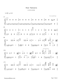 Star Fantasia-V.K-Numbered-Musical-Notation-Preview-1