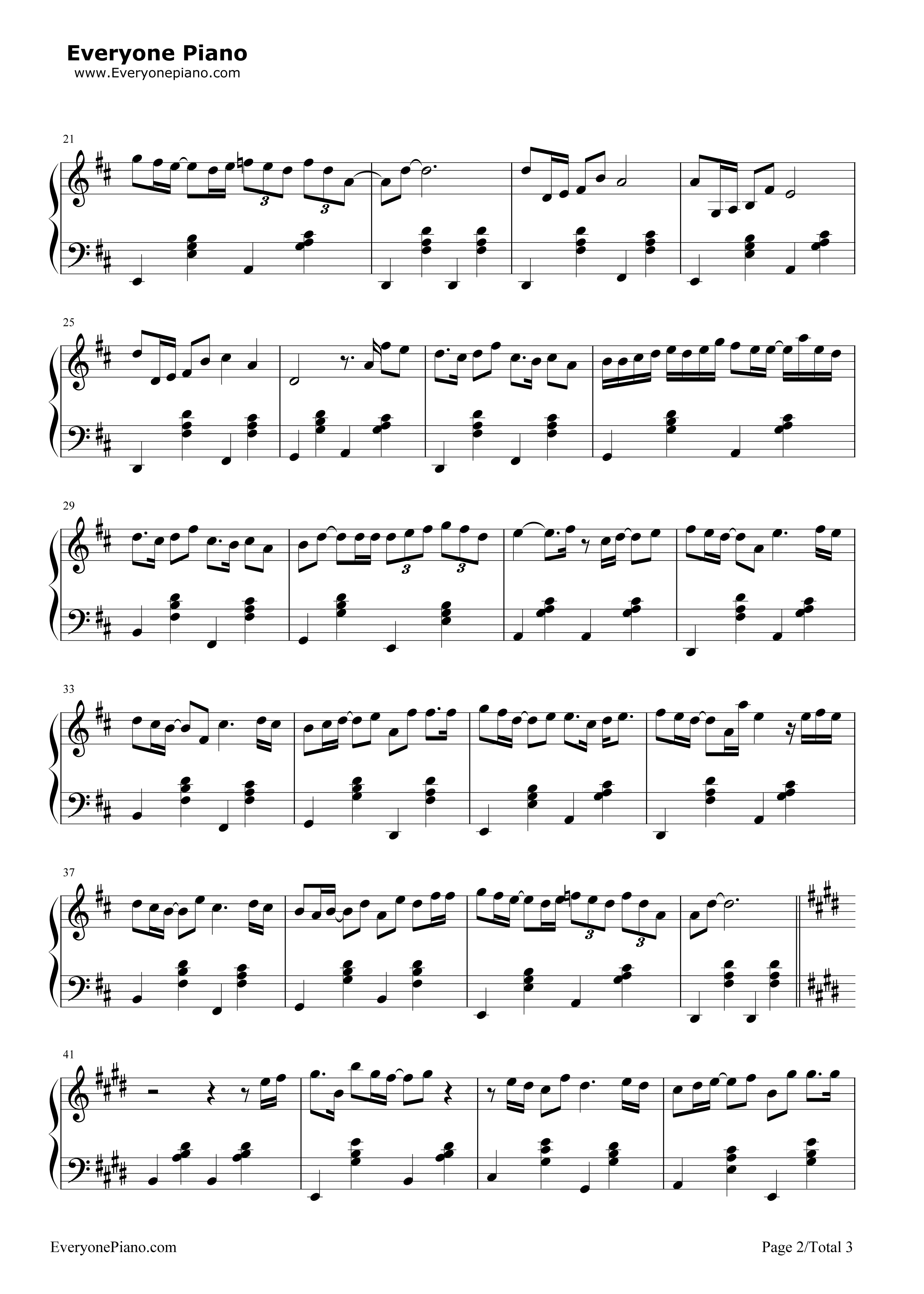 A thousand years later jj lin stave preview 2 free piano sheet listen now print sheet a thousand years later jj lin stave preview 2 hexwebz Image collections