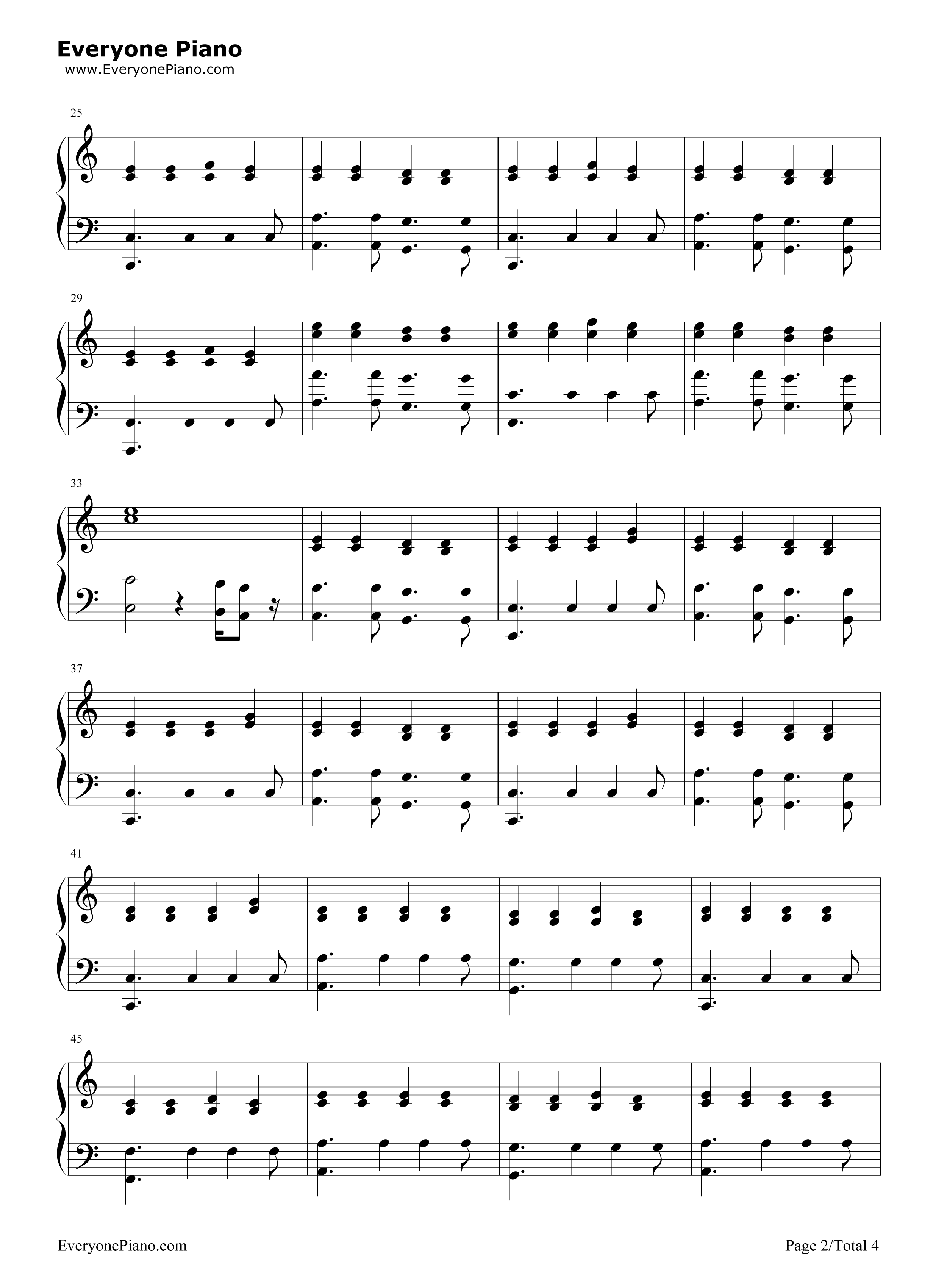Riptide-Taylor Swift Stave Preview 2- Free Piano Sheet Music u0026 Piano Chords