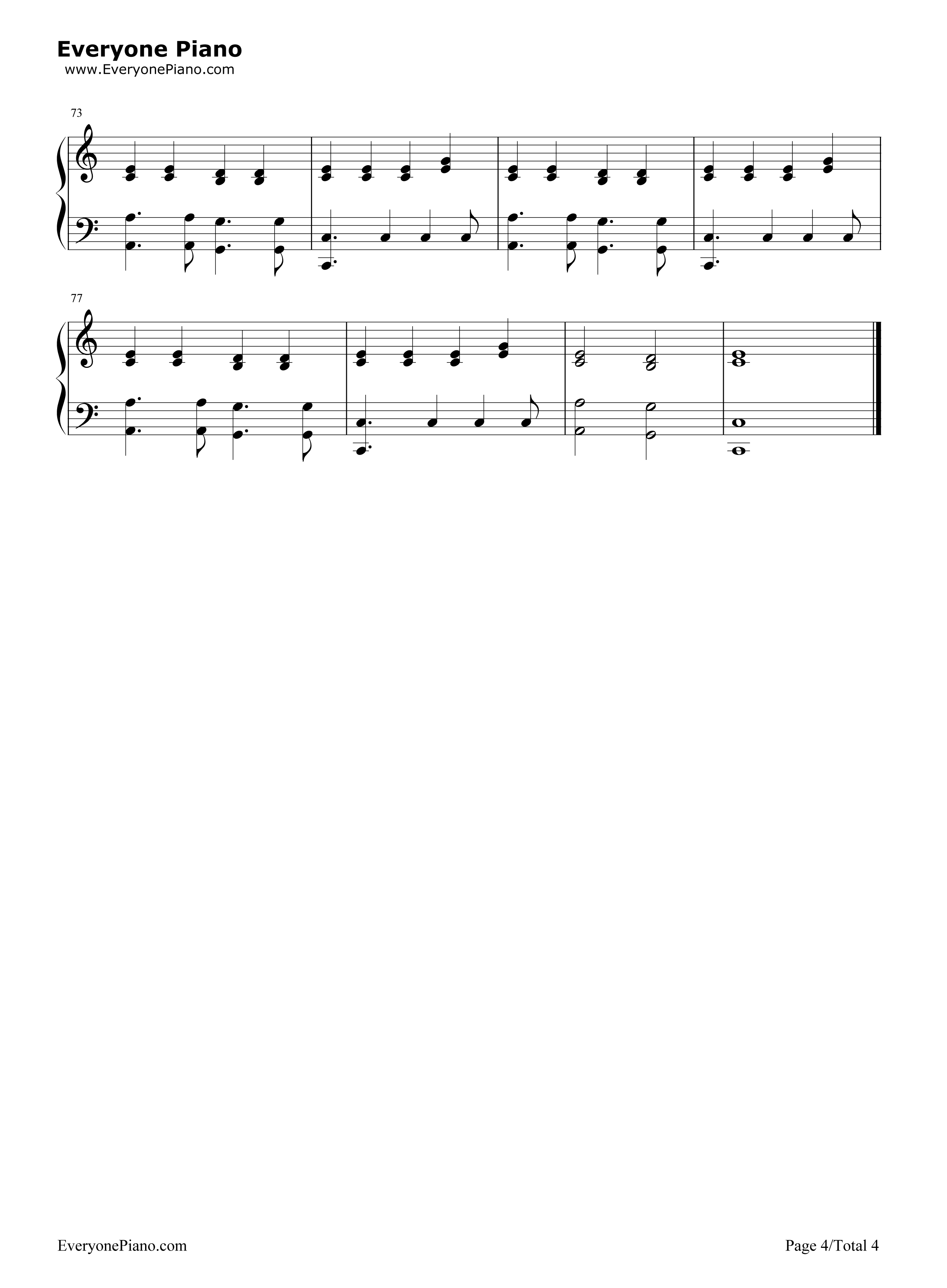 Riptide-Taylor Swift Stave Preview 4-Free Piano Sheet Music u0026 Piano Chords