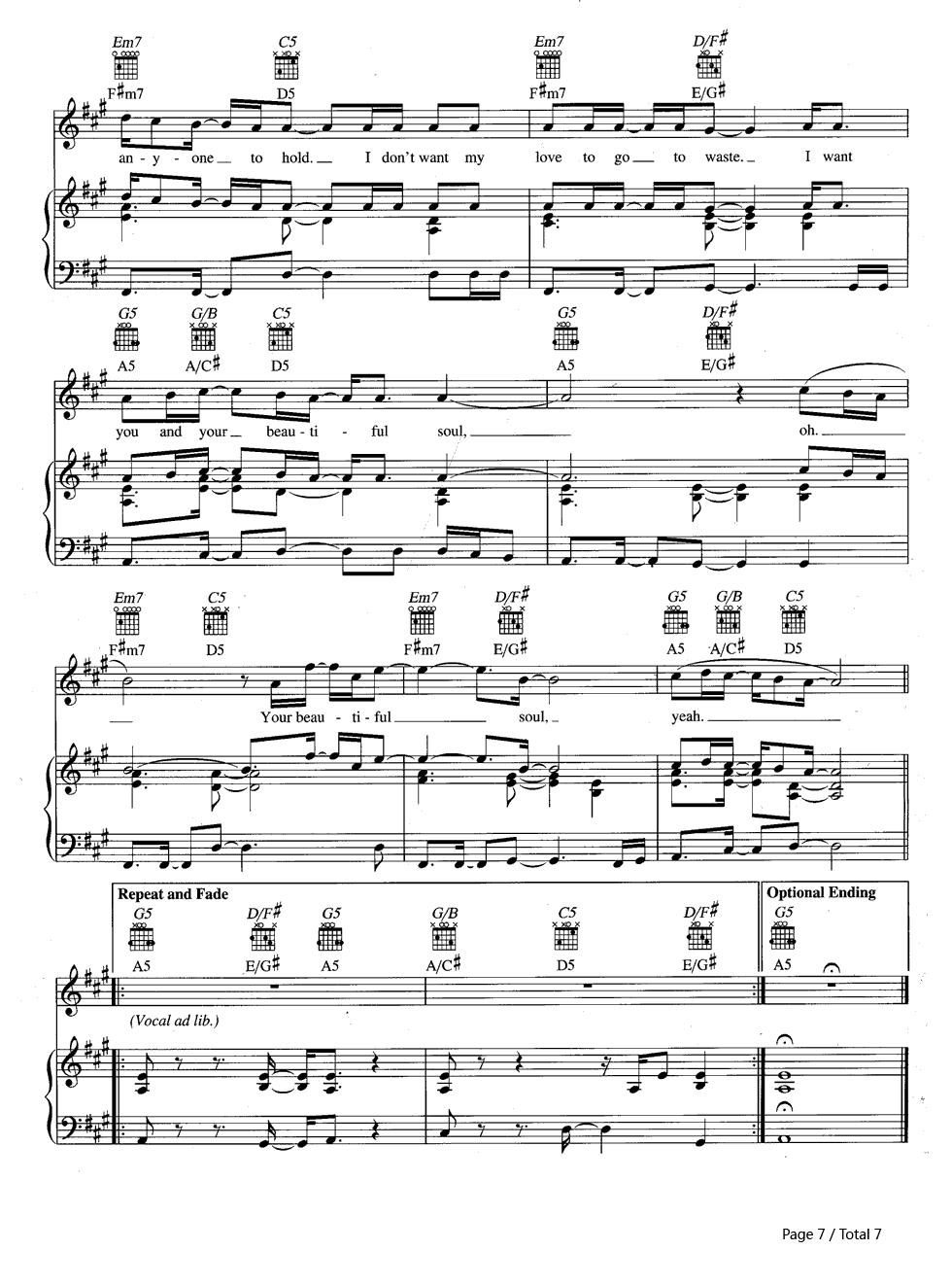 Beautiful Soul-Jesse McCartney Stave Preview 7-Free Piano Sheet Music u0026 Piano Chords