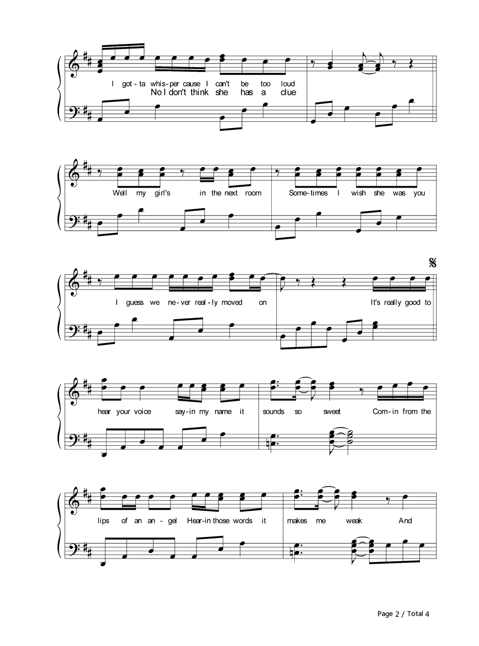 LIPS OF AN ANGEL  CORRECT Chords  Hinder  EChords