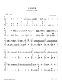Canon-Variation Version-My Sassy Girl OST-Numbered-Musical-Notation-Preview-1
