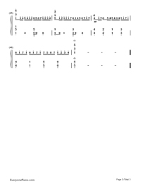Canon-Variation Version-My Sassy Girl OST-Numbered-Musical-Notation-Preview-3