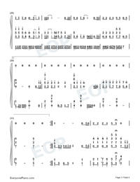 Looking for You in the World-Han Hong Numbered Musical Notation Preview 3