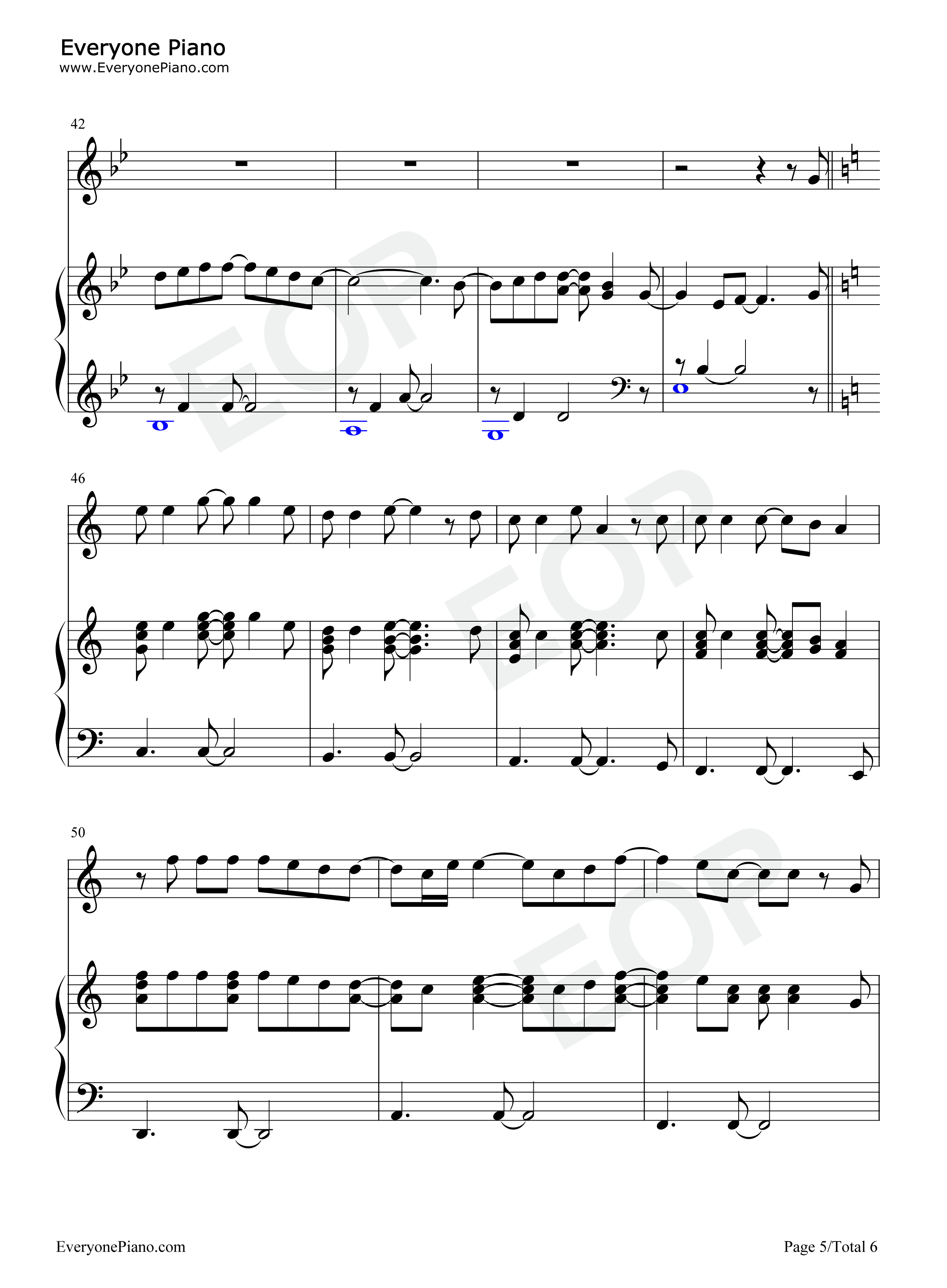 Dance with My Father-Luther Vandross Stave Preview 5-Free Piano Sheet Music u0026 Piano Chords