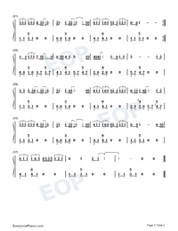 The Most Familiar Stranger-Elva Hsiao-Numbered-Musical-Notation-Preview-2