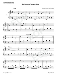 Rainbow Connection Kermit The Frog Free Piano Sheet Music
