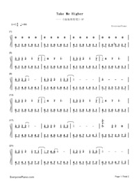 Take Me Higher-Ultraman Tiga Theme-Numbered-Musical-Notation-Preview-1