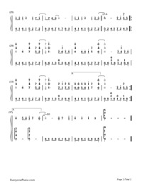 Take Me Higher-Ultraman Tiga Theme-Numbered-Musical-Notation-Preview-2