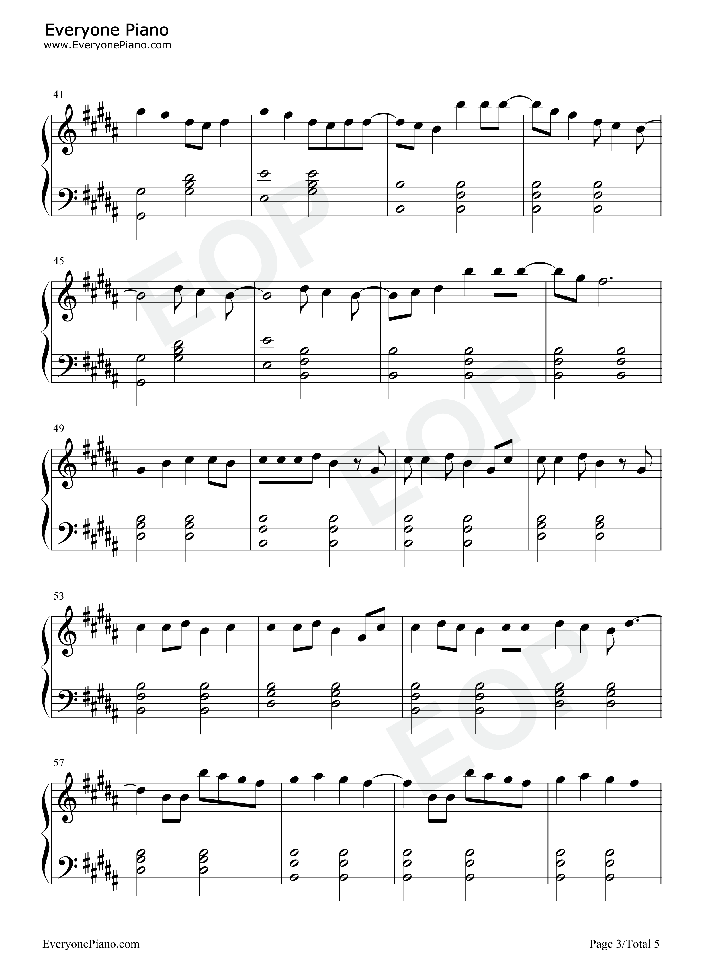 Hallelujah panic at the disco stave preview 3 free piano sheet listen now print sheet hallelujah panic at the disco stave preview 3 hexwebz Gallery