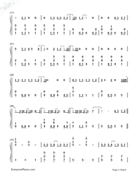 Photograph-Ed Sheeran-Numbered-Musical-Notation-Preview-2
