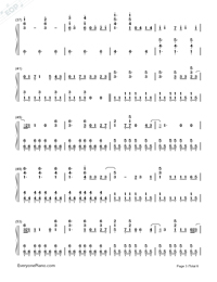 Photograph-Ed Sheeran-Numbered-Musical-Notation-Preview-3