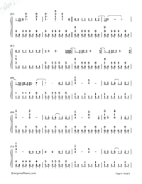 Photograph-Ed Sheeran-Numbered-Musical-Notation-Preview-4