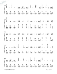 Photograph-Ed Sheeran-Numbered-Musical-Notation-Preview-5