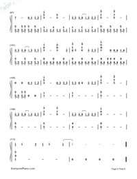 Photograph-Ed Sheeran-Numbered-Musical-Notation-Preview-6