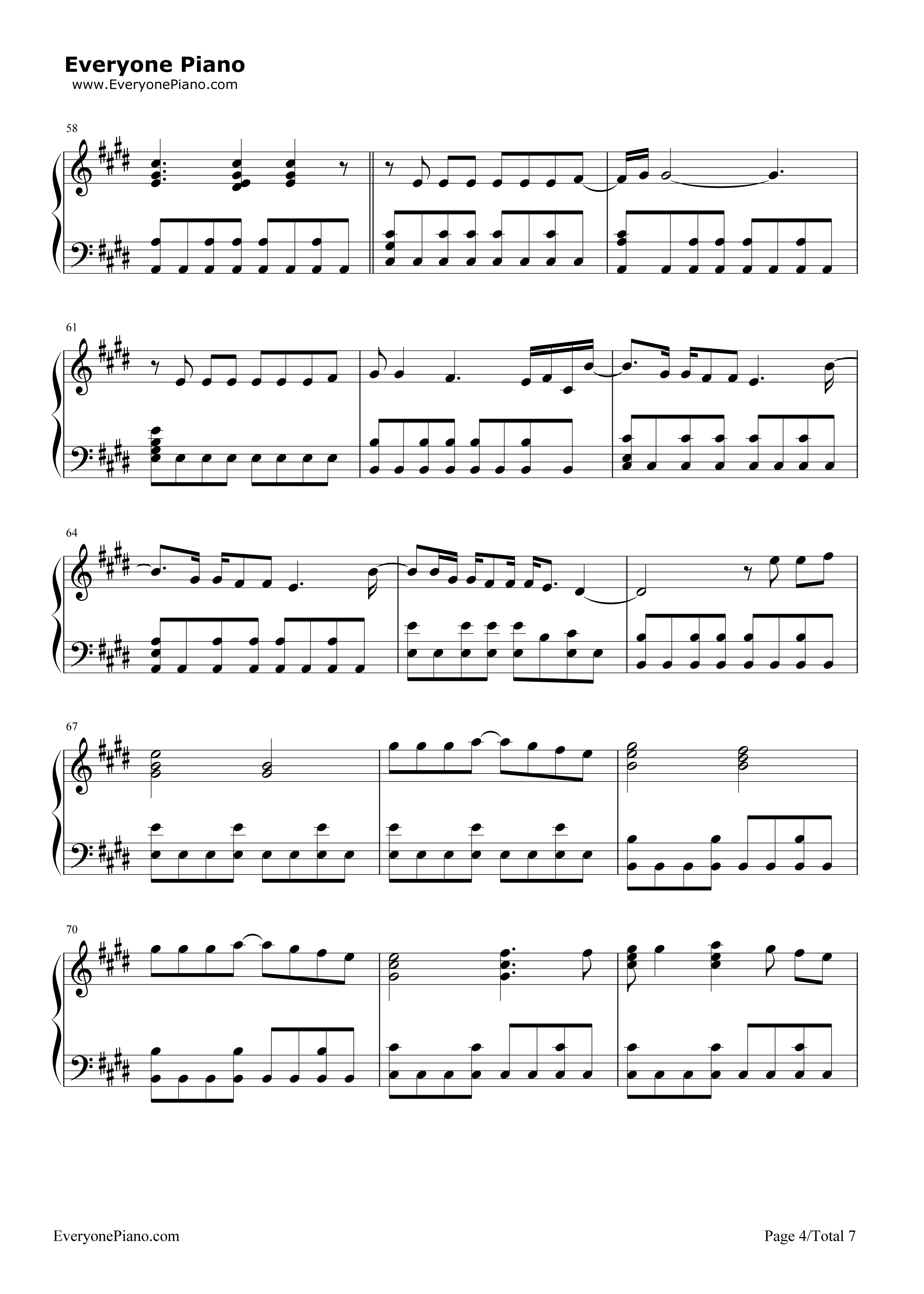 Photograph-Ed Sheeran Stave Preview 4-Free Piano Sheet Music u0026 Piano Chords