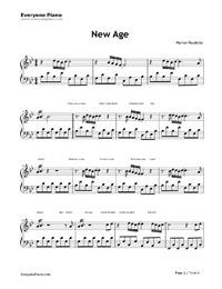new age marlon roudette klaviernoten