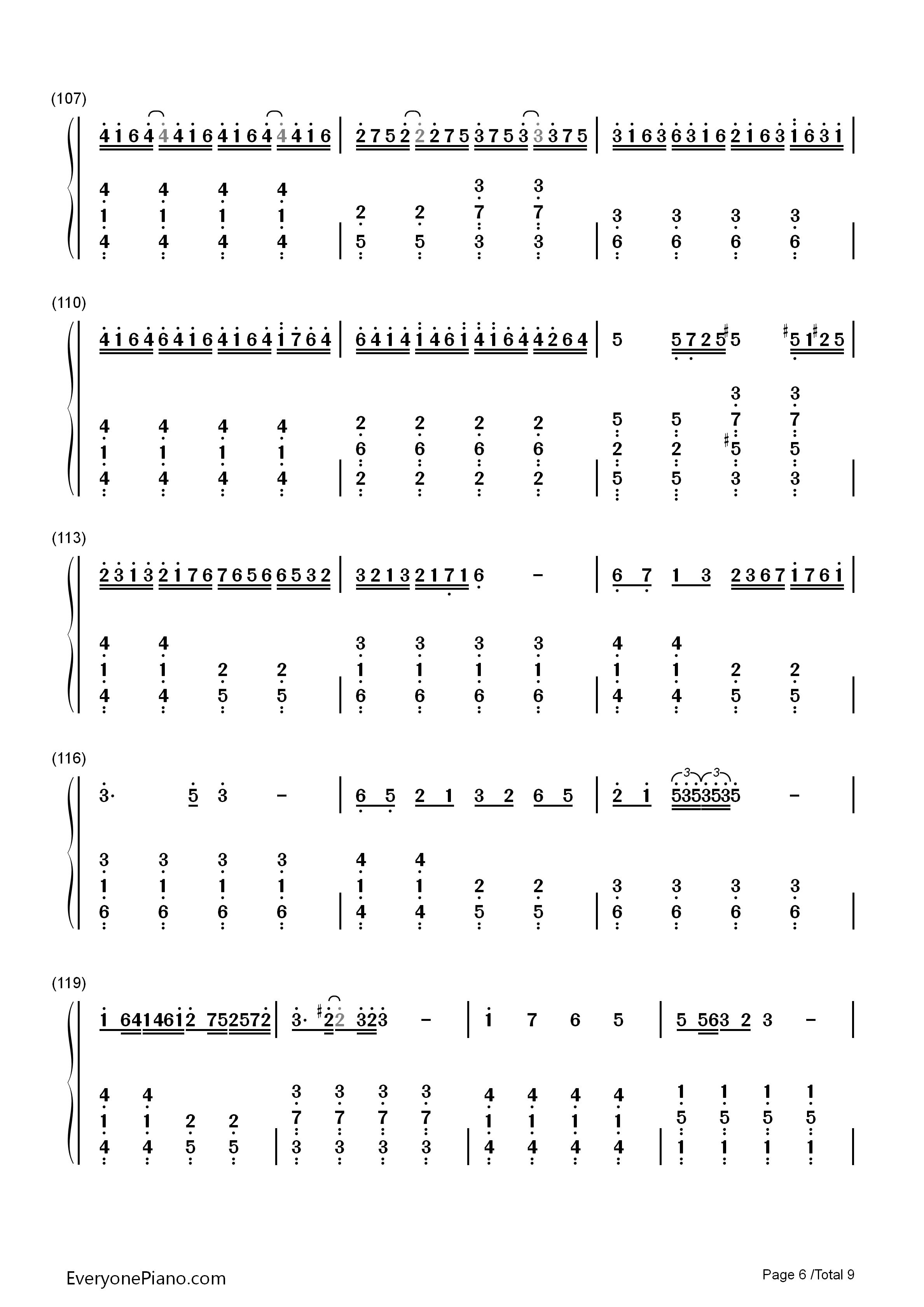 Senbonzakura easy version free piano sheet music piano chords senbonzakura easy version numbered musical notation preview 6 hexwebz Gallery