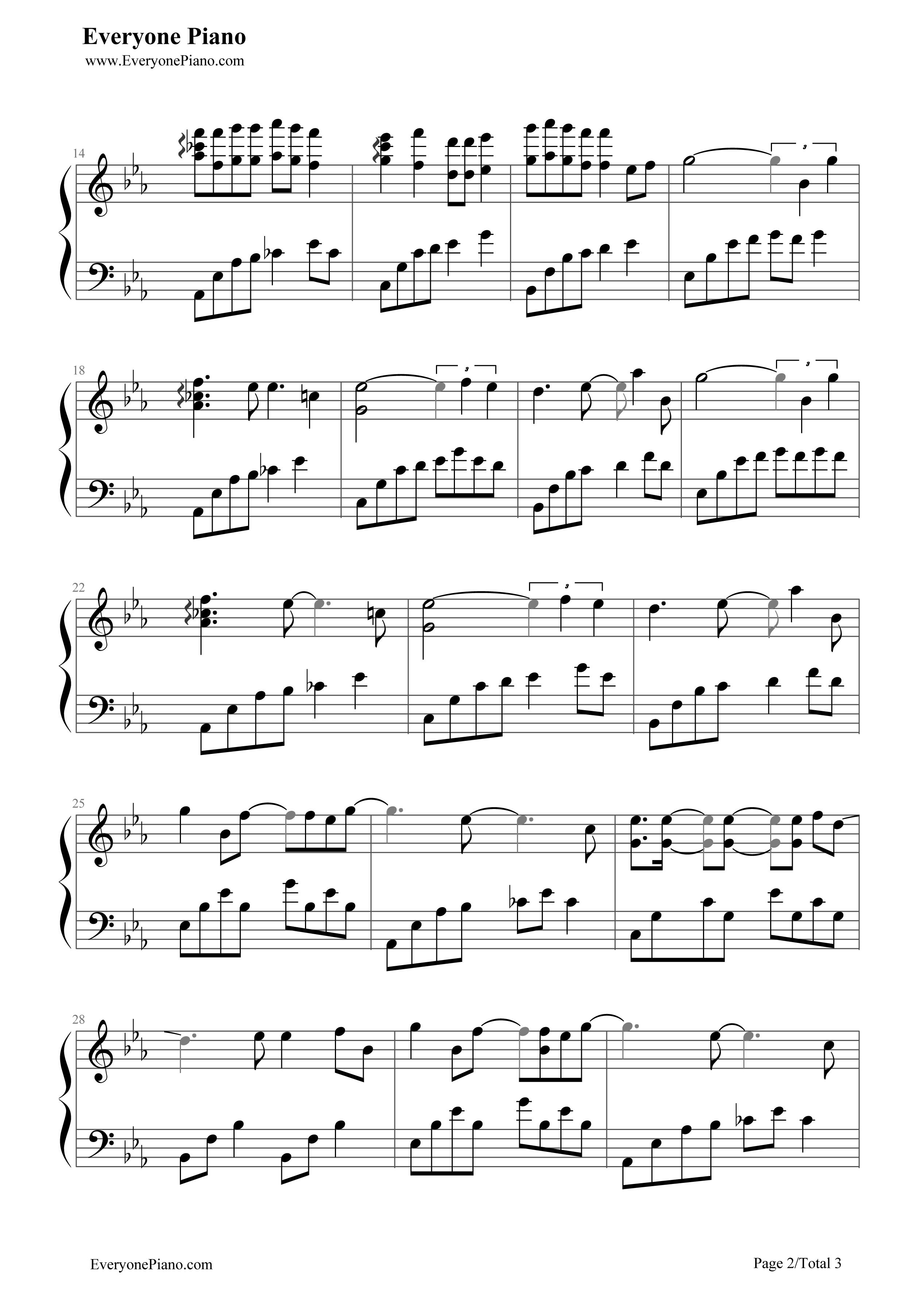 Kpop piano sheet music download sheet piano wedding for Wedding dress piano sheet